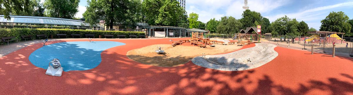 Panorama Wasserspielplatz Planten un Blomen